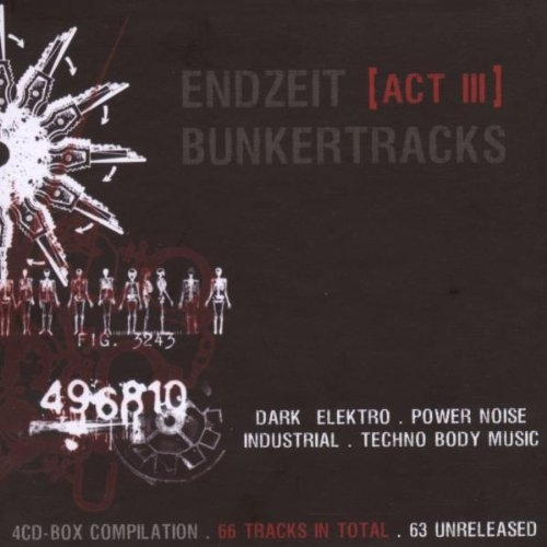 ENDZEIT BUNKERTRACKS 3 4CD BOX Soman GRENDEL X-Fusion SUICIDE COMMANDO