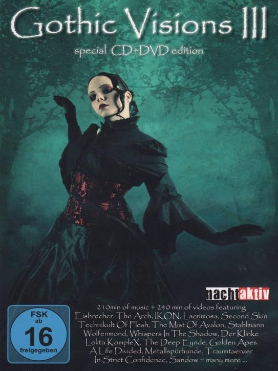 GOTHIC VISIONS VOL.3 DVD+CD 2011 Lacrimosa EISBRECHER Ikon STAHLMANN