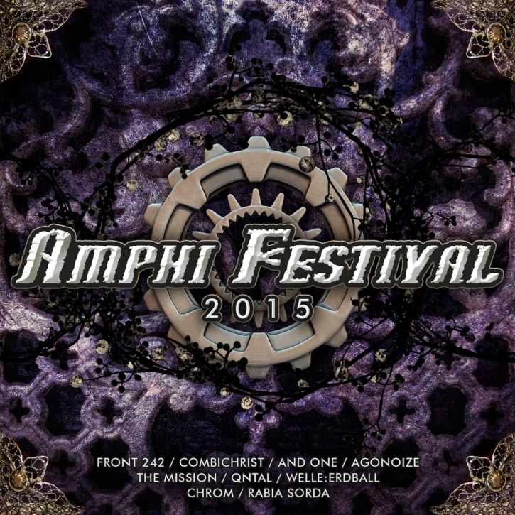 AMPHI FESTIVAL 2015 CD FRONT 242 Welle Erdball ROME And One QNTAL