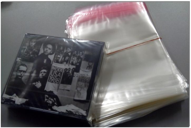 100 Schutzhüllen 2 CD Doppelbox mit Verschluss DIGIPACK