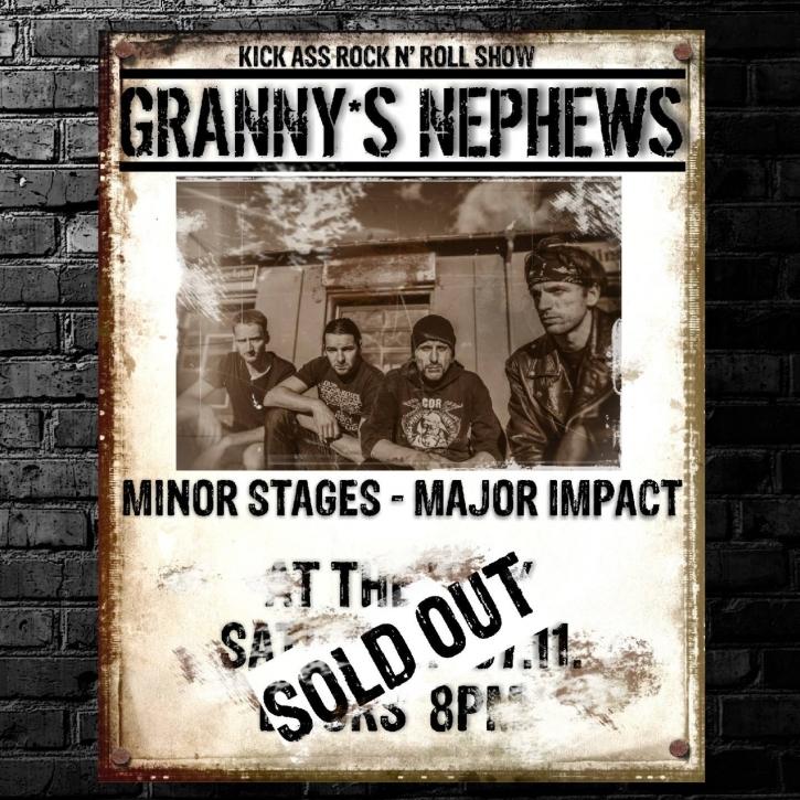 GRANNY'S NEPHEWS Minor Stages - Major Impact CD Digipack 2015