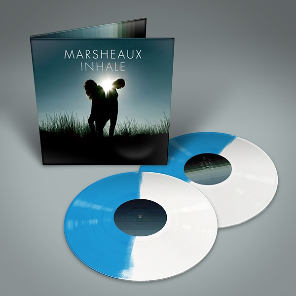 MARSHEAUX Inhale 2LP BLUE/WHITE VINYL 2016 LTD.300