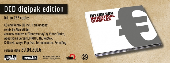 NITZER EBB Industrial Complex (Special Edition 2016) 2CD Digipack 2016 LTD.222