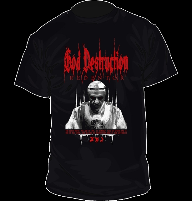 GOD DESTRUCTION Redentor T-SHIRT