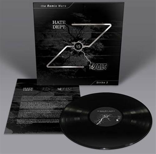 16 VOLT vs. HATE DEPT. The Remix Wars: Strike 3 LP BLACK VINYL 2016