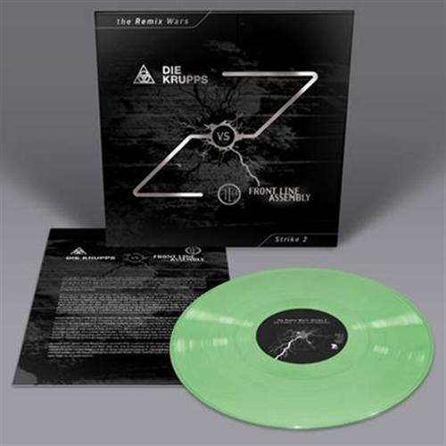DIE KRUPPS vs. FRONT LINE ASSEMBLY The Remix Wars: Strike 2 LP GREEN VINYL 2016 LTD.200