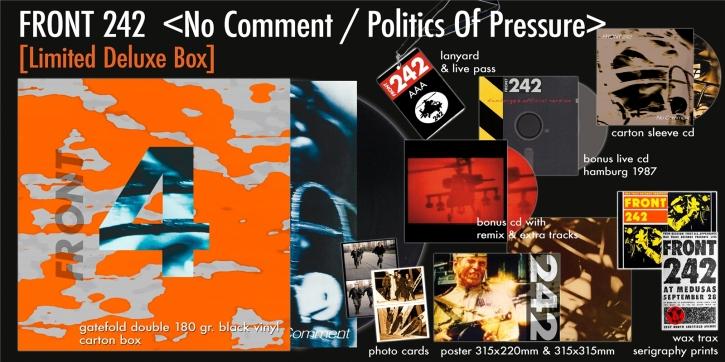 FRONT 242 No Comment / Politics Of Pressure (Deluxe Anniversary Box) 2LP+3CD LTD.1242