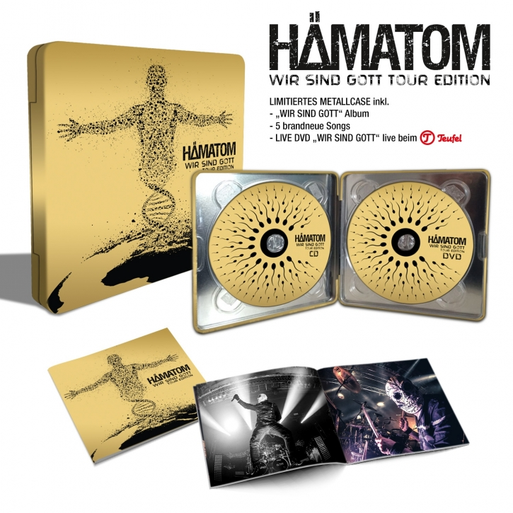 HÄMATOM Wir sind Gott – TOUR EDITION LIMITED CD+DVD METALCASE 2016