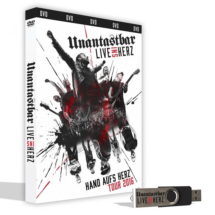 UNANTASTBAR Live ins Herz (LTD. Erstauflage inkl. USB-Stick) DVD 2017