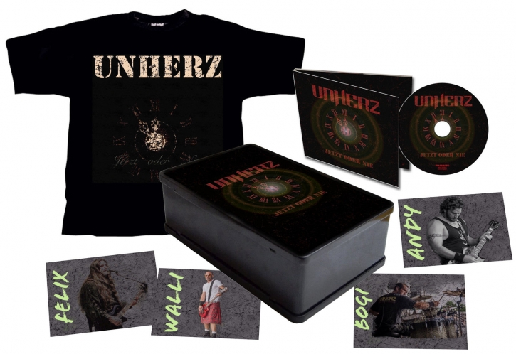 UNHERZ Jetzt Oder Nie LIMITED METALBOX 2015 (CD Digipack + T-Shirt L)