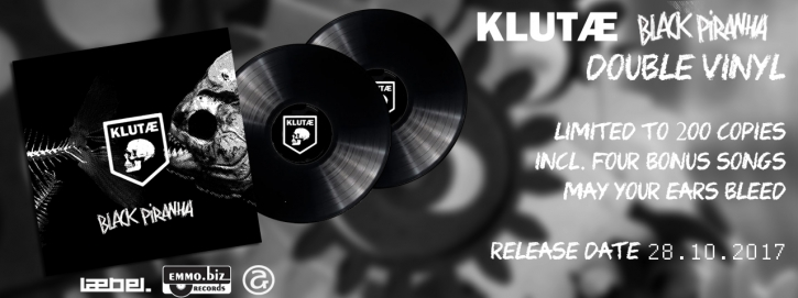 KLUTAE Black Piranha 2LP BLACK VINYL 2017 LTD.200 (VÖ 27.10)