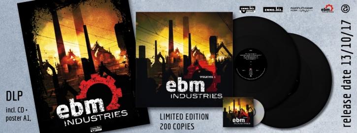 EBM Industries Vol.1 2LP BLACK VINYL+CD 2017 LTD.200 Tyske Ludder LEAETHER STRIP (VÖ 01.12)