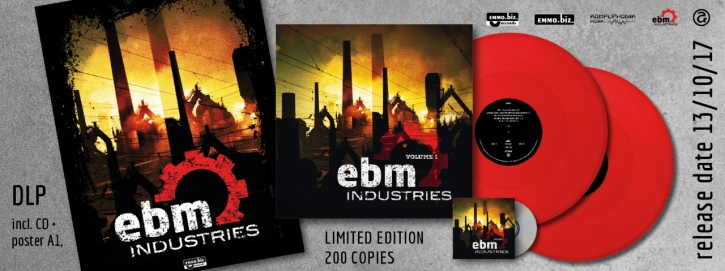 EBM Industries Vol.1 2LP RED VINYL+CD 2017 LTD.200 Tyske Ludder LEAETHER STRIP (VÖ 01.12)