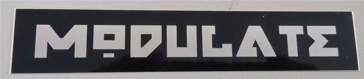 MODULATE Schriftzug Aufkleber