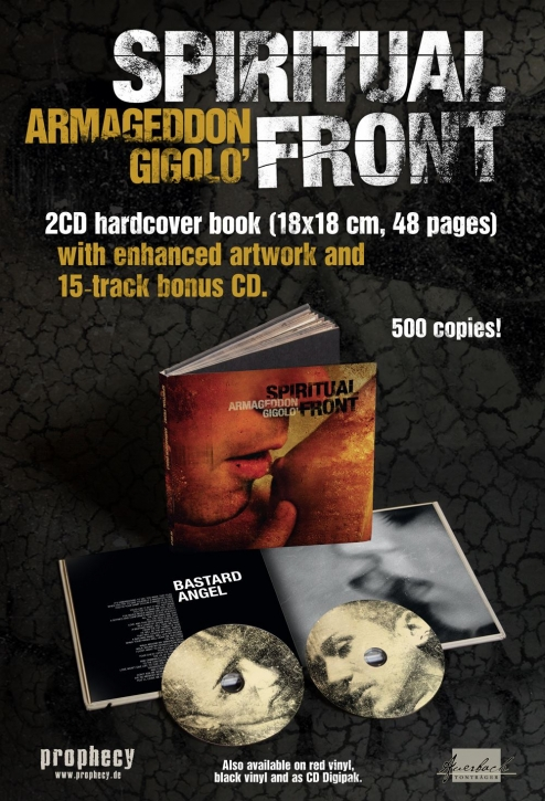 SPIRITUAL FRONT Armageddon Gigolo 2CD+BUCH 2018 LTD.500