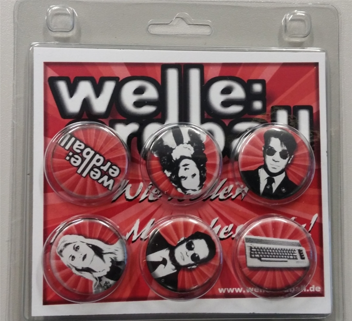 WELLE ERDBALL 6x Button Set ROT