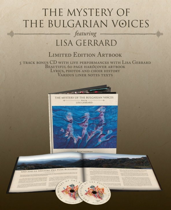 THE MYSTERY OF THE BULGARIAN VOICES feat. LISA GERRARD BooCheeMish 2CD ARTBOOK