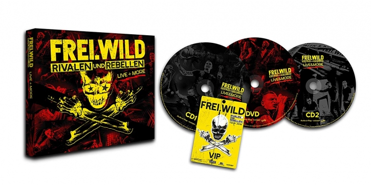 FREI.WILD Rivalen und Rebellen Live & More LIMITED 2CD+DVD Digipack 2018