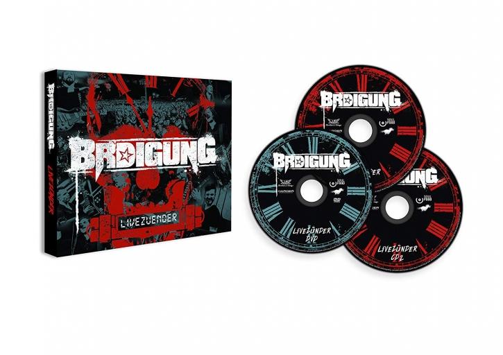 BRDIGUNG Livezünder 2CD+DVD Digipack 2018