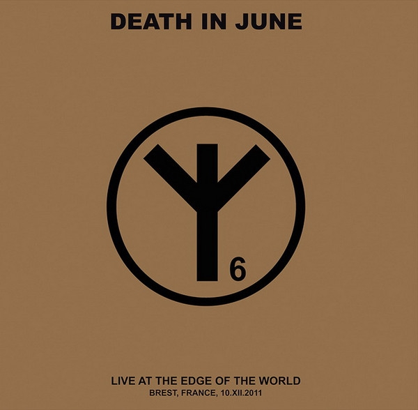 DEATH IN JUNE Live At The Edge Of The World 2LP GREY VINYL 2018 LTD.300
