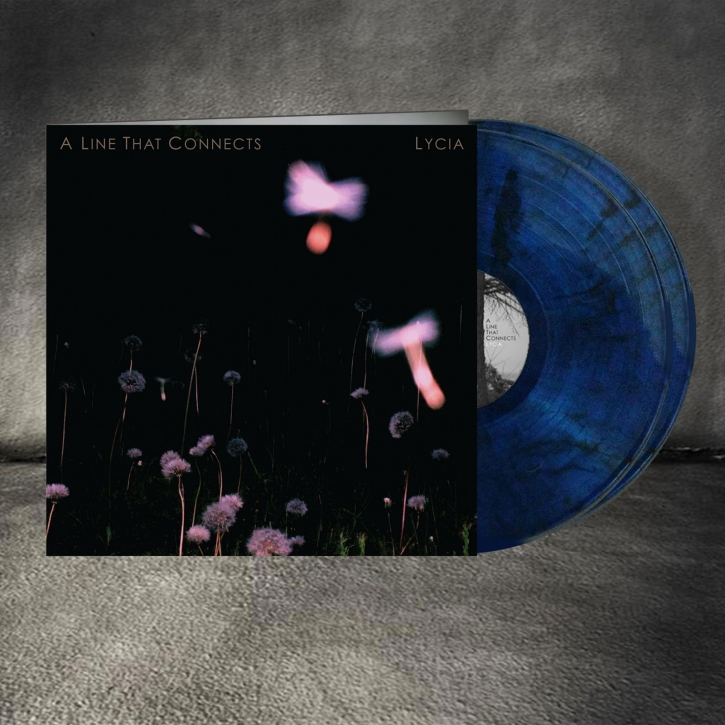LYCIA A Line That Connects 2LP Translucent Blue With Black Smoke VINYL 2019 LTD.500
