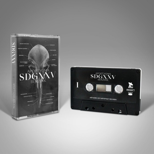 APOPTYGMA BERZERK SDGXXV MC TAPE (black/white) 2019 LTD.66