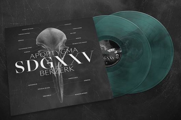 APOPTYGMA BERZERK SDGXXV 2LP Green/Black/Transparent VINYL 2019 LTD.300