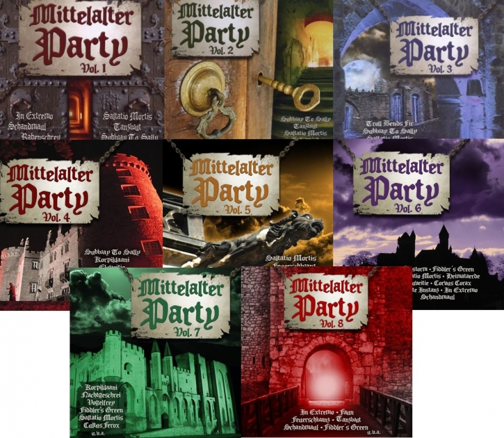 MITTELALTER PARTY VOL.1-8 8CD PAKET Schandmaul FAUN Saltatio Mortis FEUERSCHWANZ
