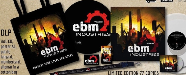 EBM Industries Vol.1 (Special Edition) 2LP CLEAR VINYL+CD LTD.77 Tyske Ludder LEAETHER STRIP