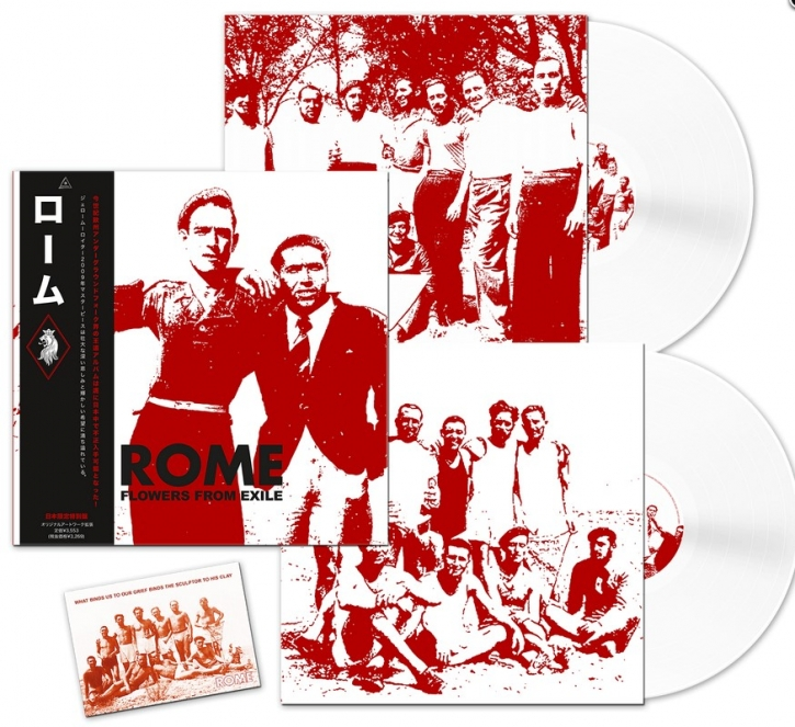 ROME Flowers from Exile (JAPAN Edition) 2LP WHITE VINYL 2019 LTD.500