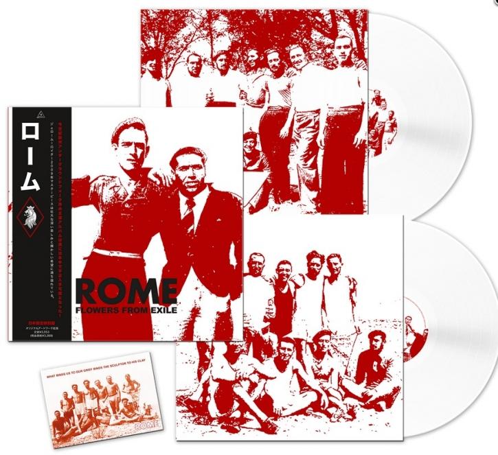 ROME Flowers from Exile (JAPAN Edition) 2LP WHITE VINYL 2019 LTD.500