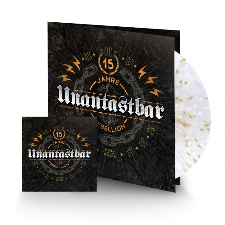 UNANTASTBAR 15 Jahre Rebellion LIMITED GATEFOLD SPLATTER VINYL+CD 2019