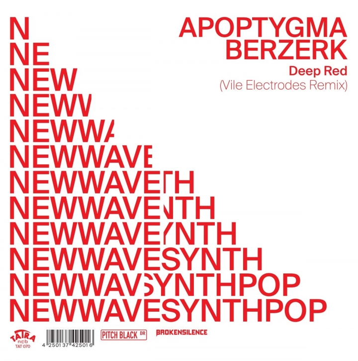 "APOPTYGMA BERZERK vs. VILE ELECTRODES Deep Red 2019 7"" TRANSPARENT VINYL 2019 LTD.400 (VÖ 30.08)"