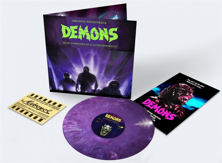 CLAUDIO SIMONETTI Demons O.S.T. [DELUXE Edition] LP Purple-Marbled Vinyl 2019 LTD.666