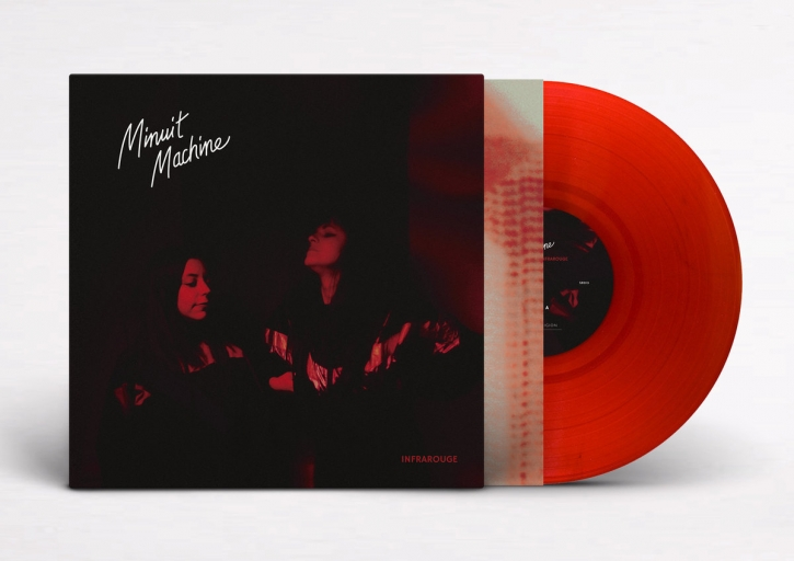 MINUIT MACHINE Infrarouge [limited CLEAR BLOOD RED] LP VINYL 2019
