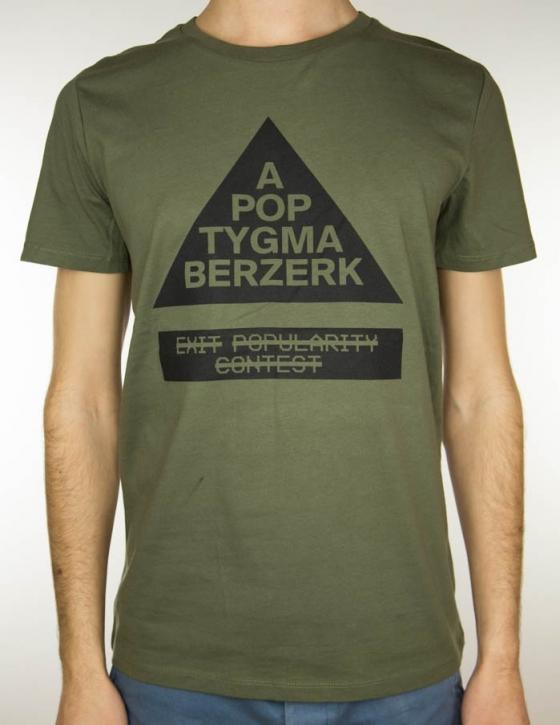 APOPTYGMA BERZERK Exit Popularity Contest T-SHIRT OLIVE