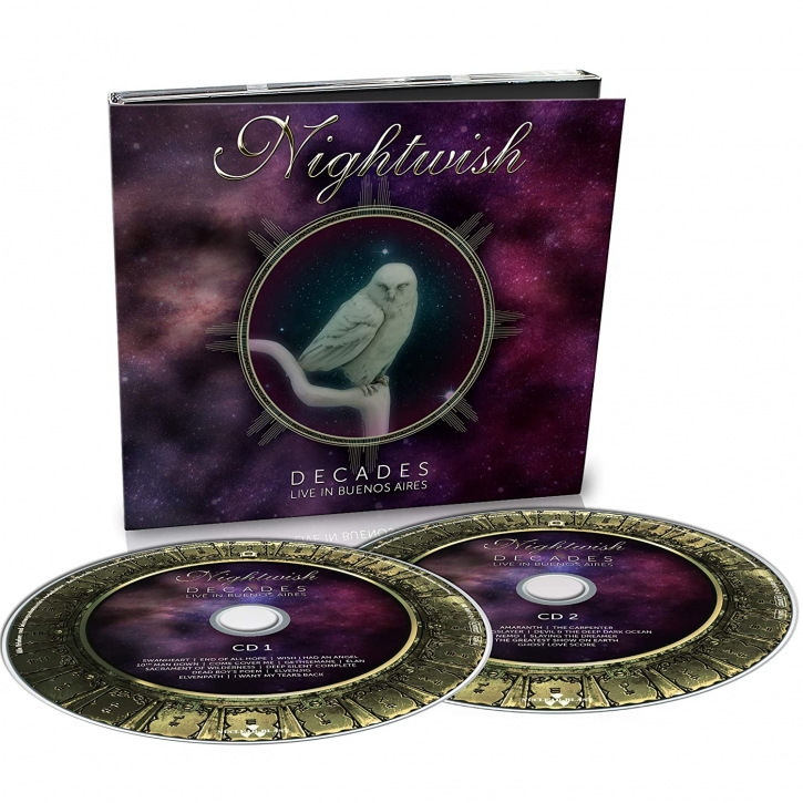 NIGHTWISH Decades : Live in Buenos Aires LIMITED 2CD Digipack 2019