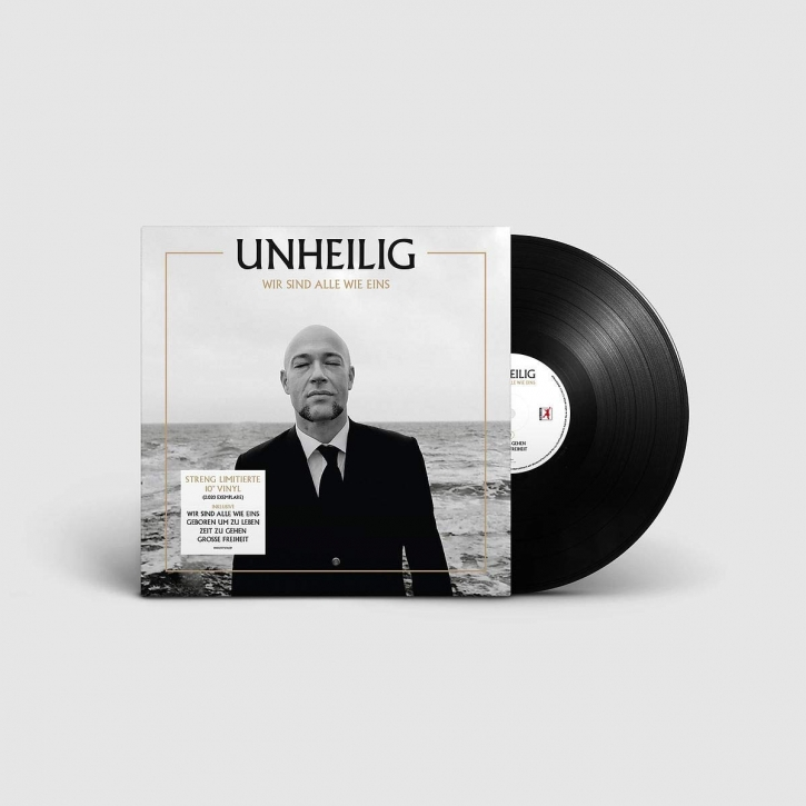 "UNHEILIG Wir sind alle wie eins (Limited Numbered Edition) 10"" VINYL 2020"