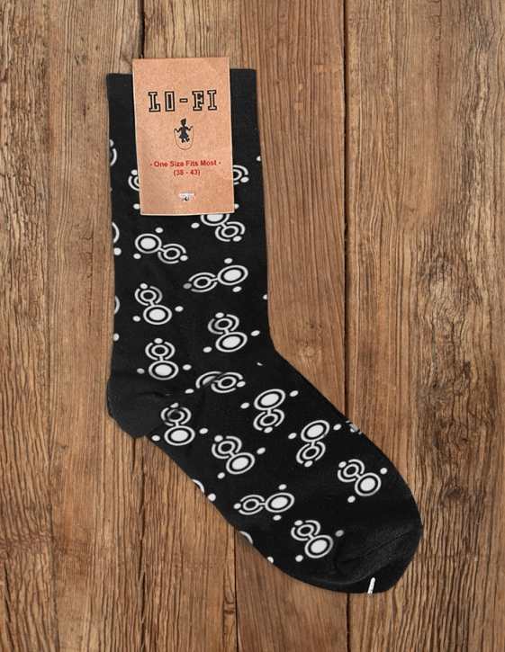 APOPTYGMA BERZERK Welcome To Earth / Crop Circle Socks BLACK/WHITE
