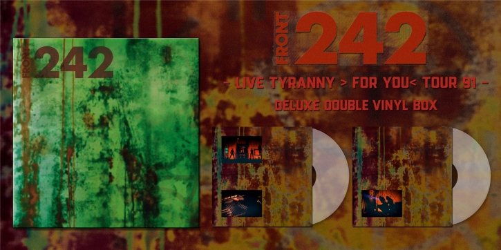 FRONT 242 91 (Live in EU) LIMITED 2LP COLOR VINYL BOX 2021