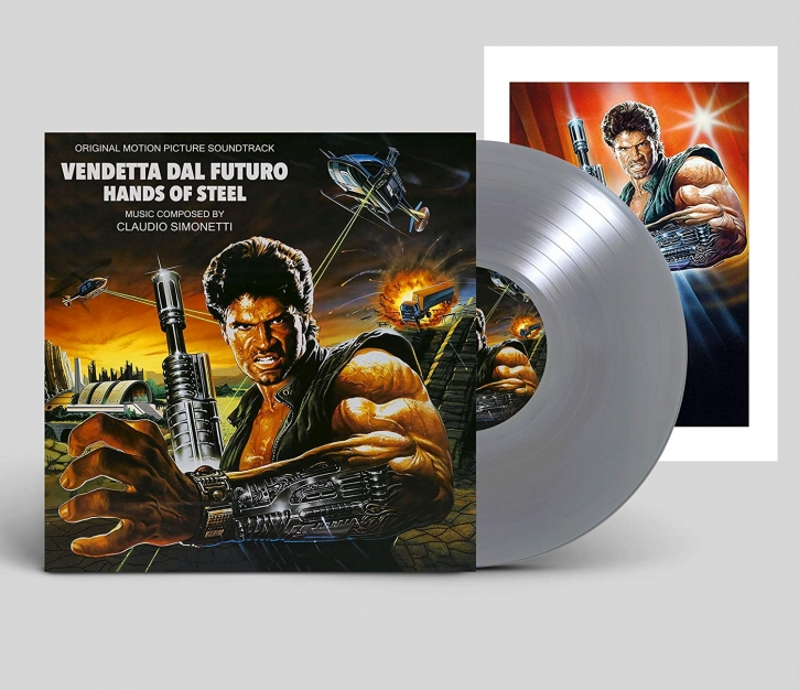 CLAUDIO SIMONETTI Hands of Steel/Vendetta dal Futuro LIMITED LP SILVER VINYL 2021