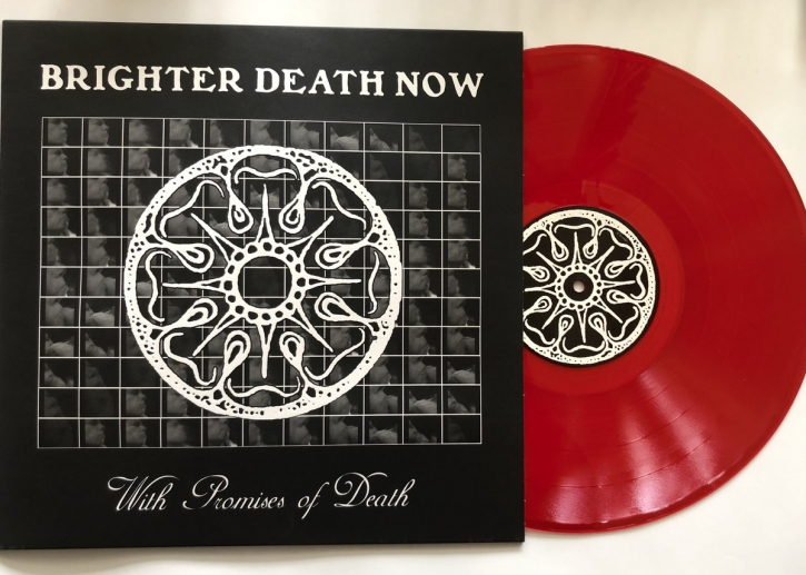 BRIGHTER DEATH NOW With Promises of Death LP BLOODRED VINYL 2021 LTD.300