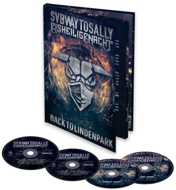 SUBWAY TO SALLY Eisheilige Nacht: Back To Lindenpark Blu-Ray + DVD + 2CD Mediabook 2021