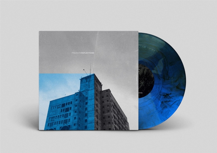 PINDROPS Reflections LIMITED BLUE with black LP VINYL 2021