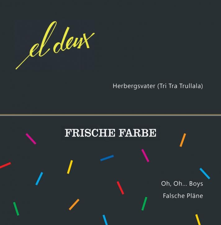 EL DEUX / FRISCHE FARBE Split EP LIMITED BLACK LP VINYL 2021