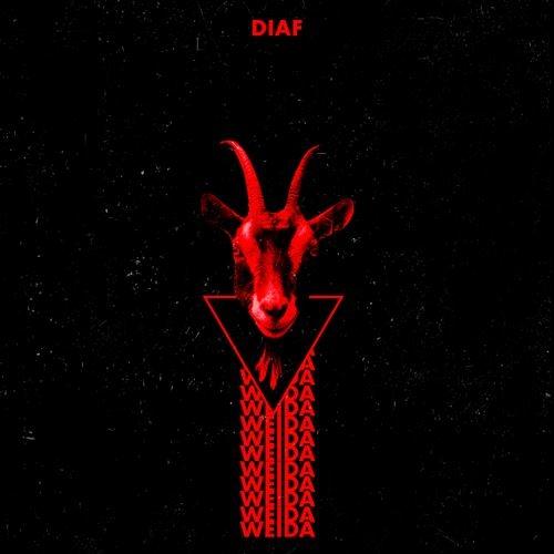 DIAF Weida LIMITED BLACK with RED streaks LP VINYL 2021