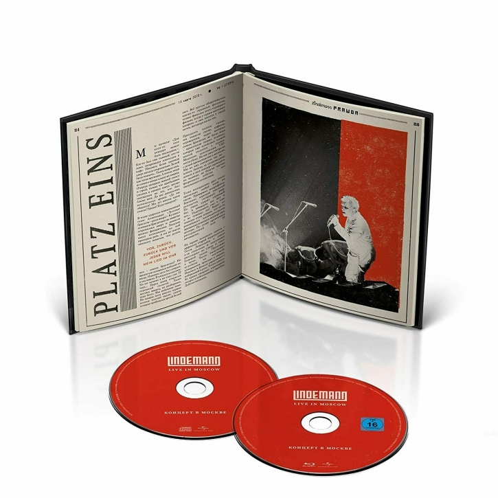 LINDEMANN Live In Moscow LIMITED DELUXE BLU-RAY+CD 2021 (RAMMSTEIN)