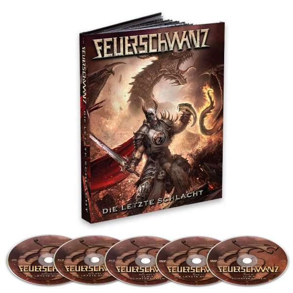 FEUERSCHWANZ Die letzte Schlacht 2BLURAY + 2DVD + CD MEDIABOOK 2021