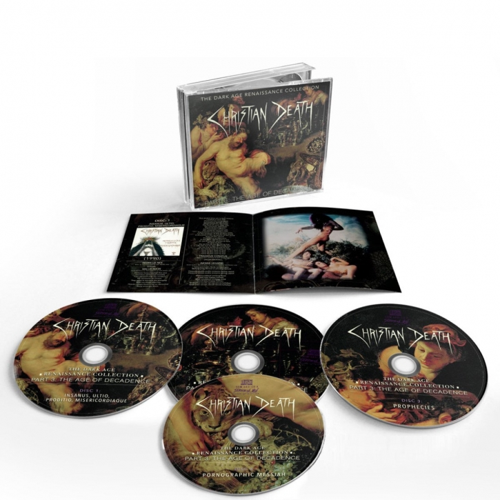 CHRISTIAN DEATH The Dark Age Renaissance Collection Part 3: The Age of Decadence 4CD BOX 2021