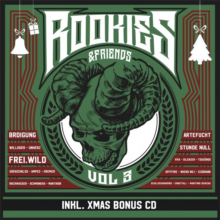 ROOKIES & FRIENDS Sampler Vol. 3 (XMAS Edition 21) 2CD 2021 (Artefuckt FREI.WILD) (VÖ 26.11)
